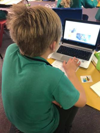 Students researching local bird species